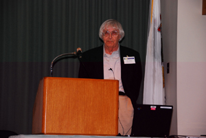 Lev P. Gorkov at conference on superconductivity (Urbana, 2007)